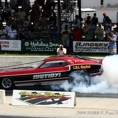 """Rob Pfeister's """"Mutiny"""" from Louisville - 7.0 Pro Class at 2009 NHRR Bowling Green"""