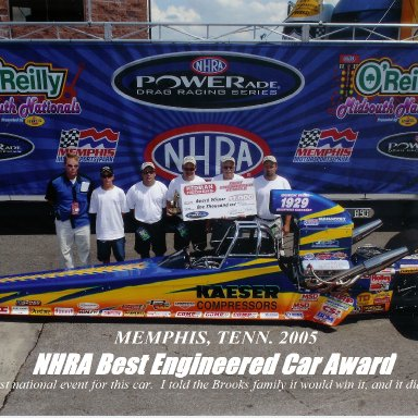 Brooks dragster winners photo
