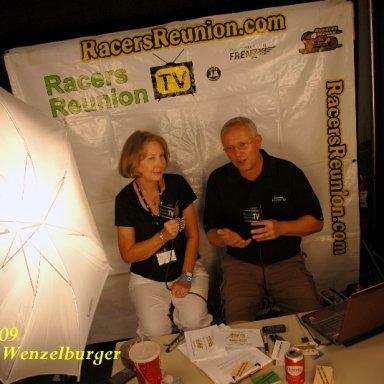 Nancy being interviewed