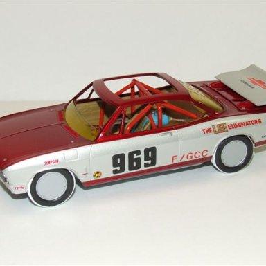 1969 Corvair salt flat racer model built by Todd wingerter