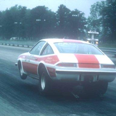 Harold Robinson coming off dragway 42 1975 photo by Todd Wingerter