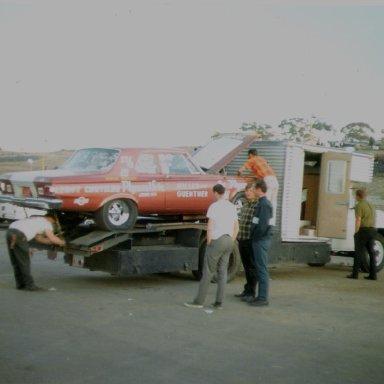 65 car on truck