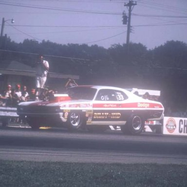 Billy the Kid coming off 1972 IHRA dragway 42  photo by todd Wingerter