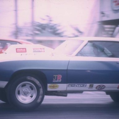 Chuck Wright vs Ron Hutter 1971 dragway 42 photo by Todd Wingerter
