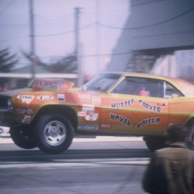 Hutter-Carver-Novak coming off 1971 Dragway 42  photo by Todd Wingerter