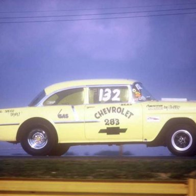 55 Chevy Gasser 283  1973 Quaker City  photo by Todd Wingerter