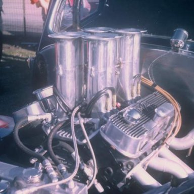 Hot Rod Paradise 41 Willys engine 1970 Thompson Dragway  photo by Todd Wingerter