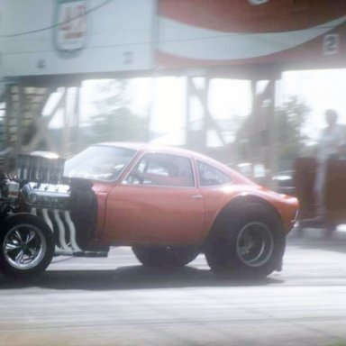 Virgil Cates Hemi-A-G Opel 1971 Dragway 42  photo by Todd Wingerter