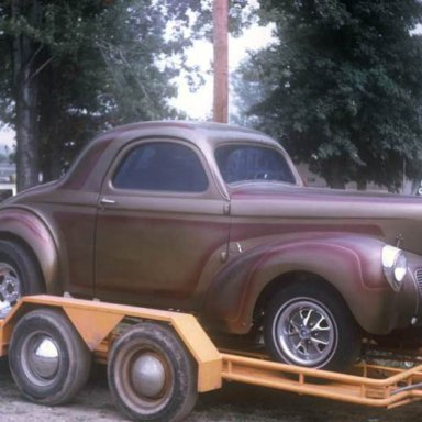 1940 Willys very nice on trailer Dragway 42 1970  photo by Todd Wingerter