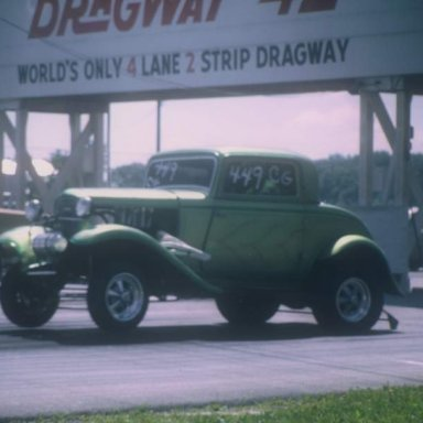 1932 Ford c-g coming off line dragway 42 1970  photo by Todd Wingerter