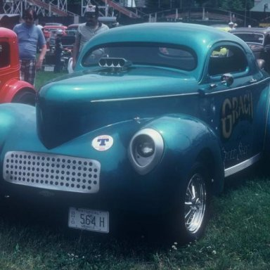Grach Bros Willys now a street rod 1980  photo by Todd Wingerter