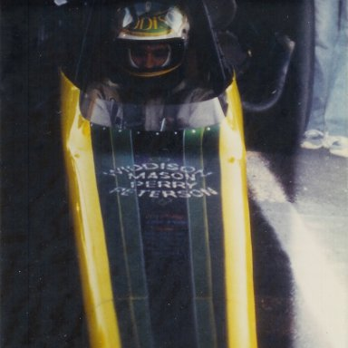 Garth Widdison in the Utah Charger Top Fuel dragster