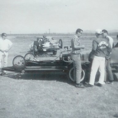 Dragsters from Pocatello, Idaho, at Bonneville Drag Strip
