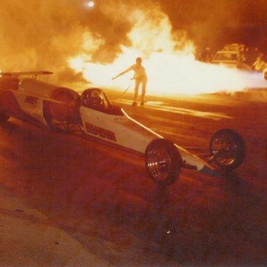 Al Eierdam's Invader jet dragster at Bonneville Raceway in 1983