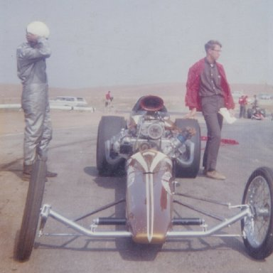 Connie Kalitta's AA/FD following a run at 1965 HRM Championships