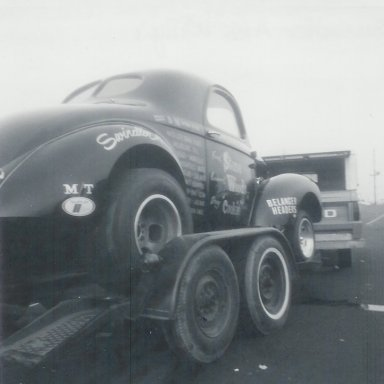 """Stone-Woods-Cook """"Swindler"""" A/GS Willys coupe at Irwindale"""