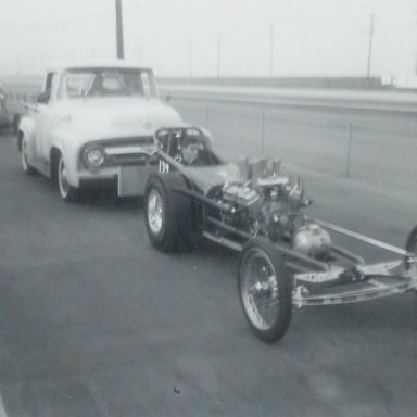 Chiefs of San Diego dragster at 1963 Winternationals