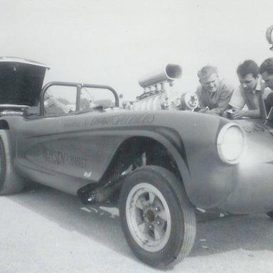 Remsen's Market blown Vette at 1963 Winternationals