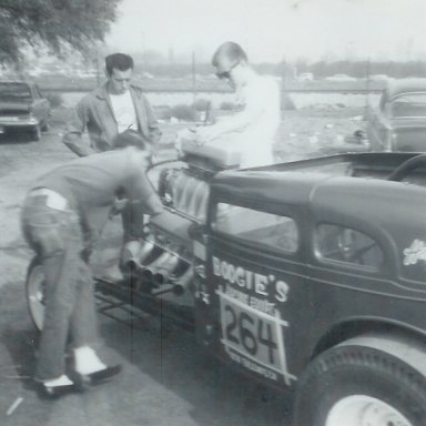 Boogie Scott's '32 Ford A/A at 1963 Winternationals