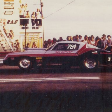 Ron Clifford Camaro at Bonneville Raceway in 1978