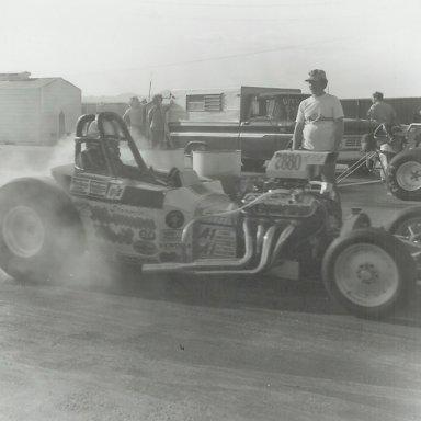 Stormin Mormon Neil at Bonneville Raceway in about 1978
