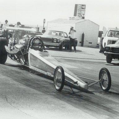 Glen Pearmain in AA/BAD at Bonneville Raceway in about 1978