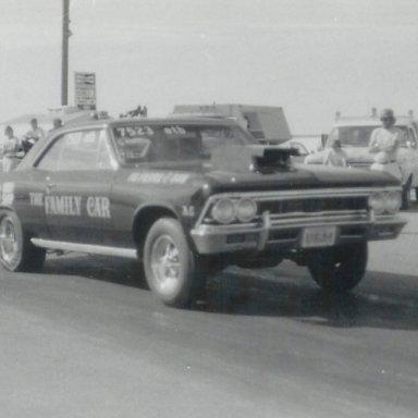 "Money's ""Family Car"" at Bonneville Raceway in about 1978"