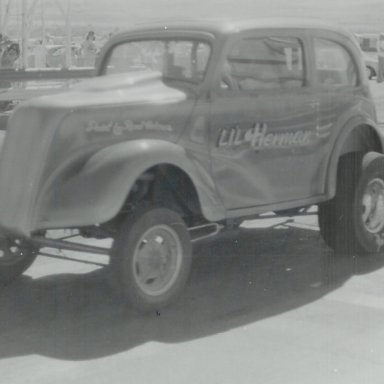 """Lil' Herman"" coupe at Bonneville Raceway"