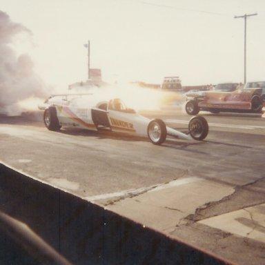 Invader vs.jet dragster at Bonneville Raceway