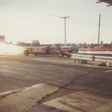 Jet dragster at Bonneville Raceway