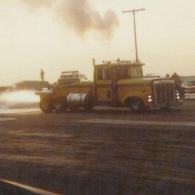 Jet truck at Bonneville Raceway