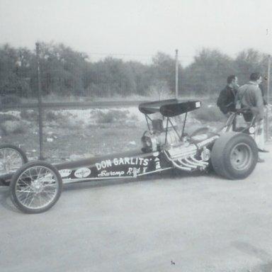 Don Garlits' Swamp Rat V at 1963 Winternationals
