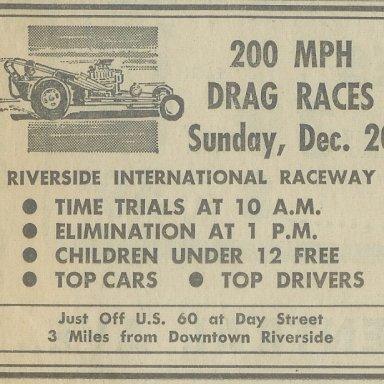 Riverside Raceway, Dec. 20, 1964
