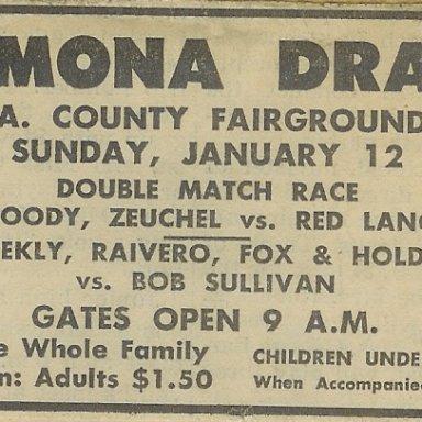 Pomona Drags, January 12, 1964