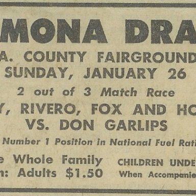 Pomona Drags, Jan. 26, 1964