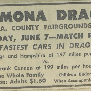 Pomona Drags, June 7, 1964