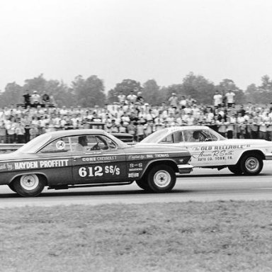 1962 SS/S Class Championship race Strickler won the class beating Proffitts 12.83 et with a slower 12.97. The Old Reliable II did set low et. of the class with a 12.55.