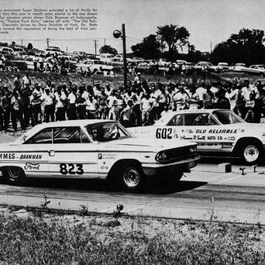 "Dave Strickler's Old Reliable IV v Dick Brannan's ""Fastest Ford Alive"""