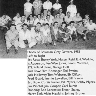 1951 Bowman-Gray Stadium Drivers