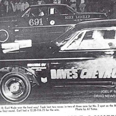 Z11 Earl Wade at the wheel of Mike Lenke's 63 Impala Z-11