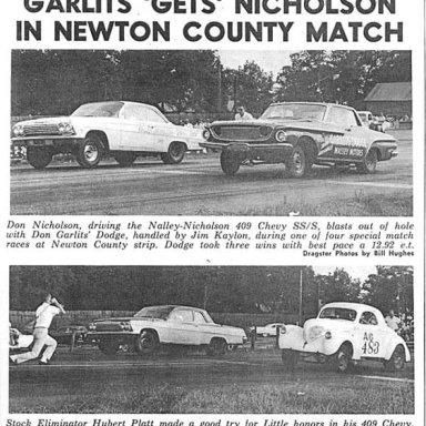 Dyno Don v Don Garlits Dodge driven by Jim Kaylon in 1962