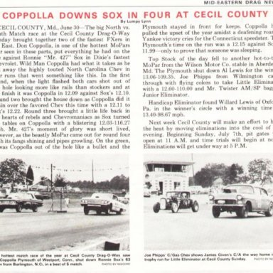 Ronnie Sox loses at Cecil County