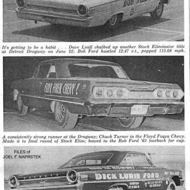 """Chuck Turner in the """"Floyd Foren Chevrolet"""", 1963 Detroit"""