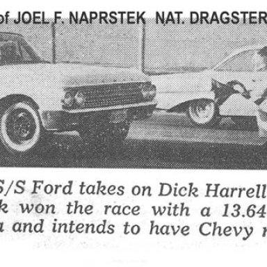 Dick Harrell's 1961 Impala Optional/Super Stock vs Roy Roper S/S Ford