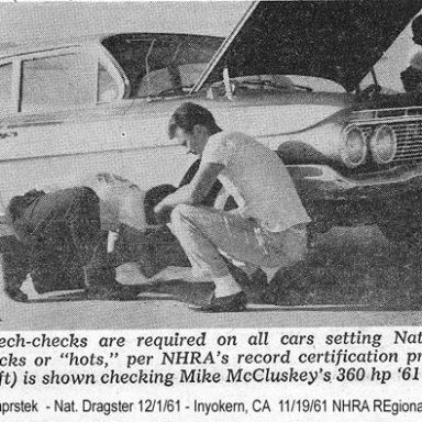 Mike McCluskey-1961 409-360HP-Photo by Joel Naprstek