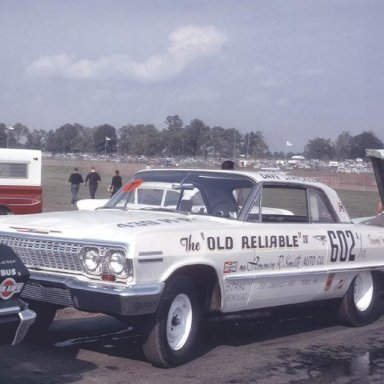 Old Reliable IV at tech after 1963 Indy A/FX  win