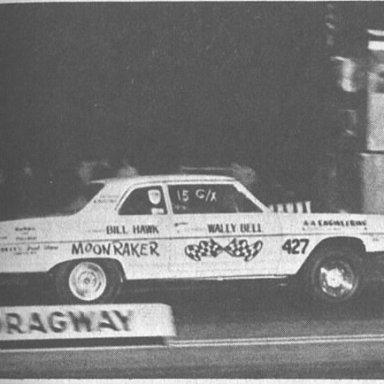 "Wally Bell 1966 Chevelle ""MoonRaker"" Island Dragway,  April 1967, SSIA"
