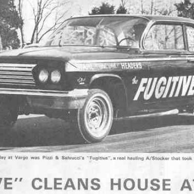 """Pizzi-"""" The Fugitive""""-Cleans House at Vargo in 1964"""
