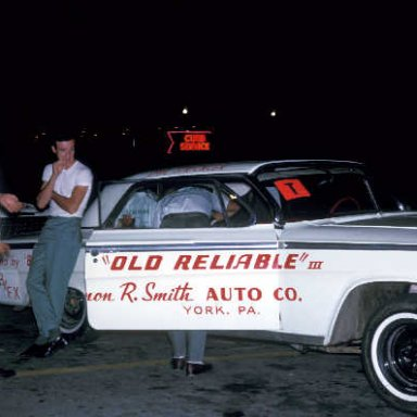 Old Reliable III, 1962 Impala, prototype of the Z11 to come in 1963. Lost to Dyno Don in the FX Final
