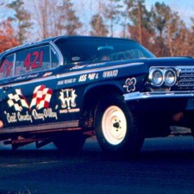 """Back Then, Al Lewis """"Cecil County Drag-O-Way"""" 1962 409 Impala"""